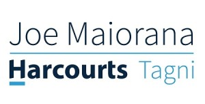 Joe Maiorana - Harcourts Logo (white)-1-web